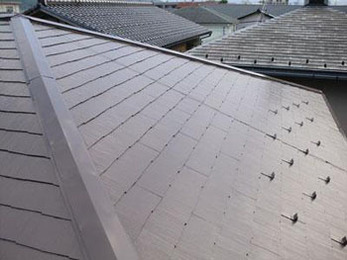 屋根遮熱塗装リフォーム工事で、工期も短く綺麗になりました。
