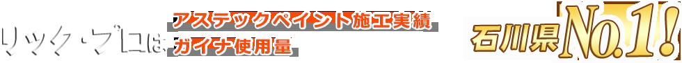 リック・プロはアステックペイントKFワールドセラシリーズ石川県実績№1!